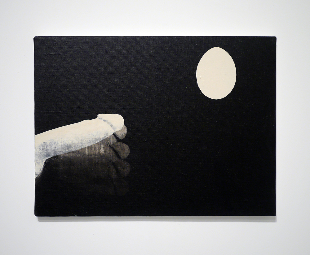 Egg . Acrylic on canvas. 12 x 16 inches. 2013.