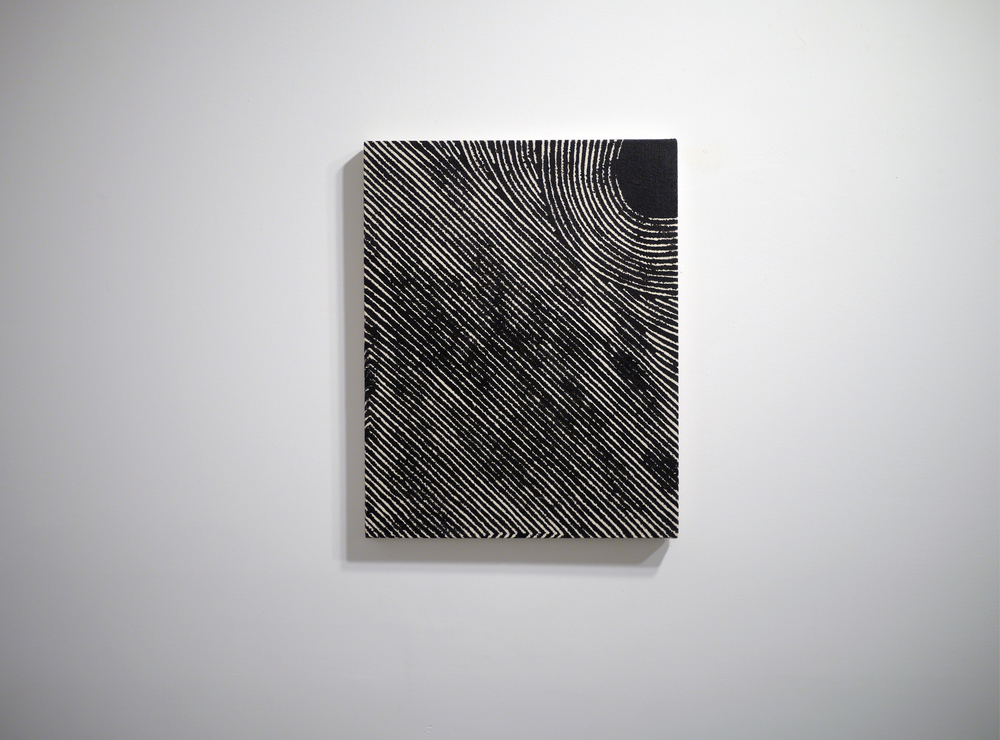 Blurred Trace . Acrylic on canvas. 18 inches x 14 inches. 2013.