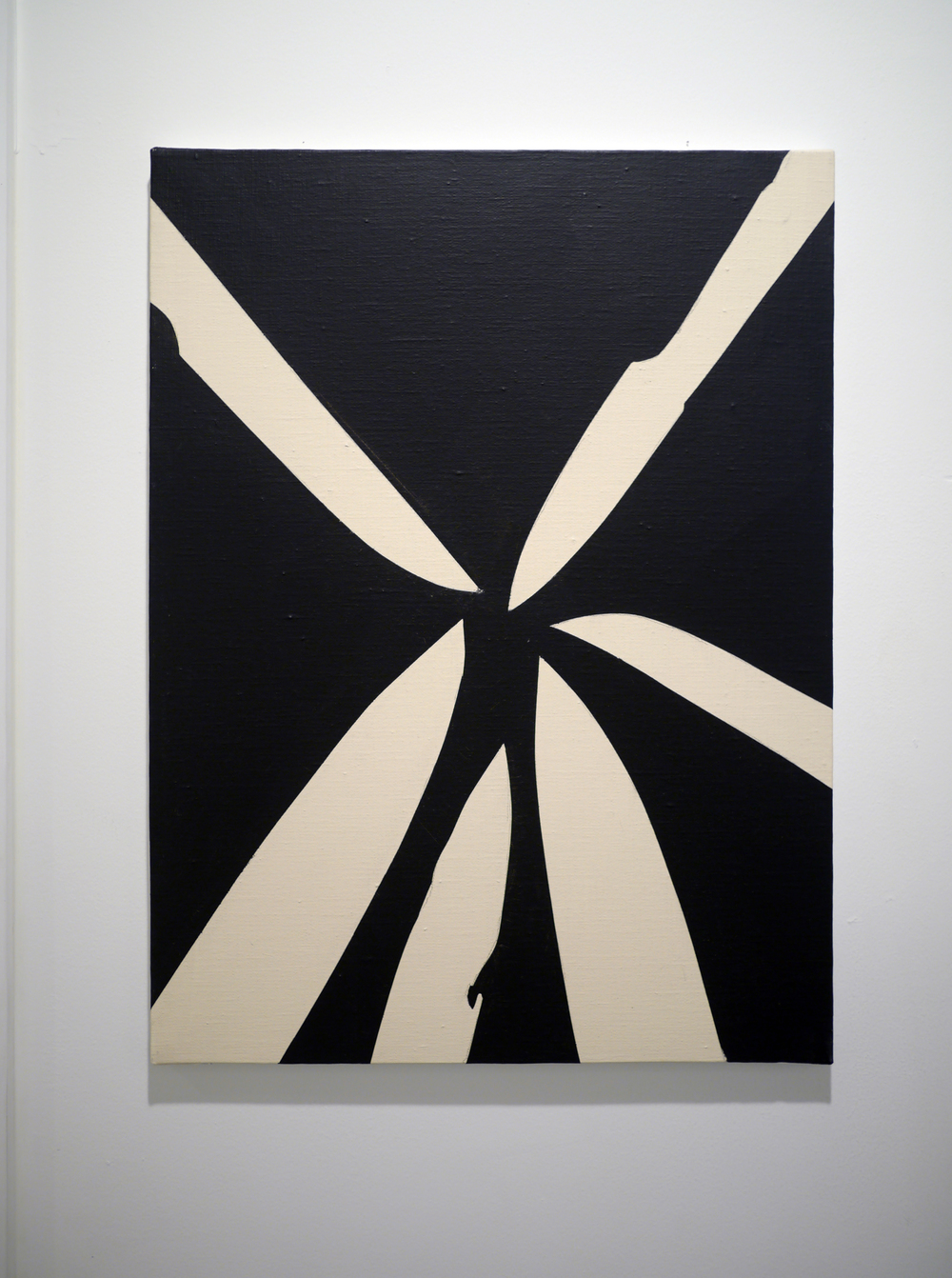 Six Knives.  Acrylic on canvas. 18 x 24 inches. 2013.