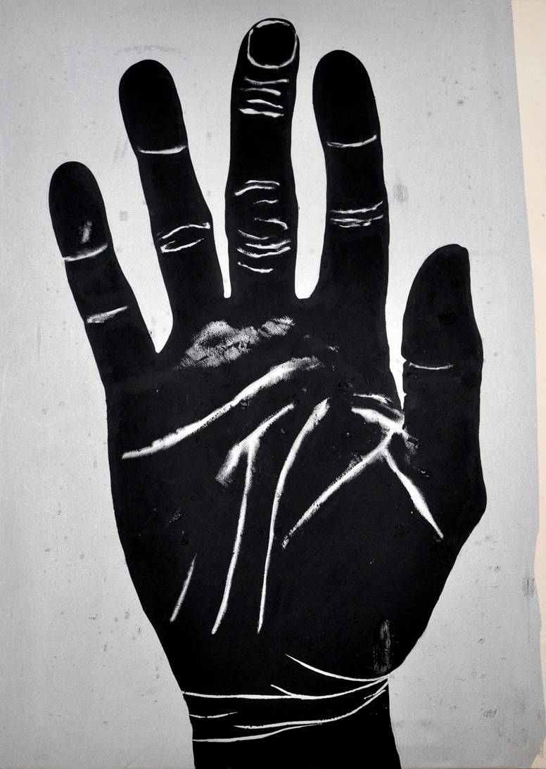 Gesture . Acrylic on canvas. 70 x 50 inches. 2013.