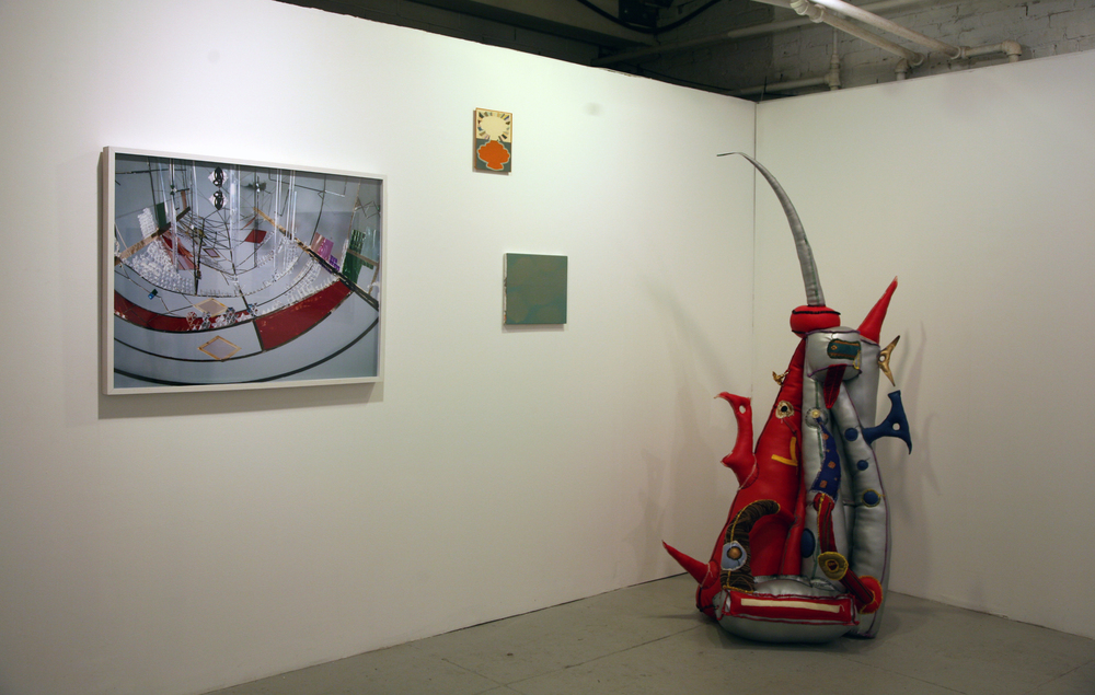 Installation View.  Yamini Nayar, Tom Buckhardt, Robert Bordo, R.M. Fischer.