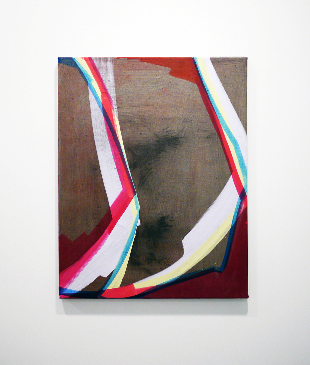 Rosanna Bruno  Falling Up  Oil on linen  28 inches x 22 inches  2013