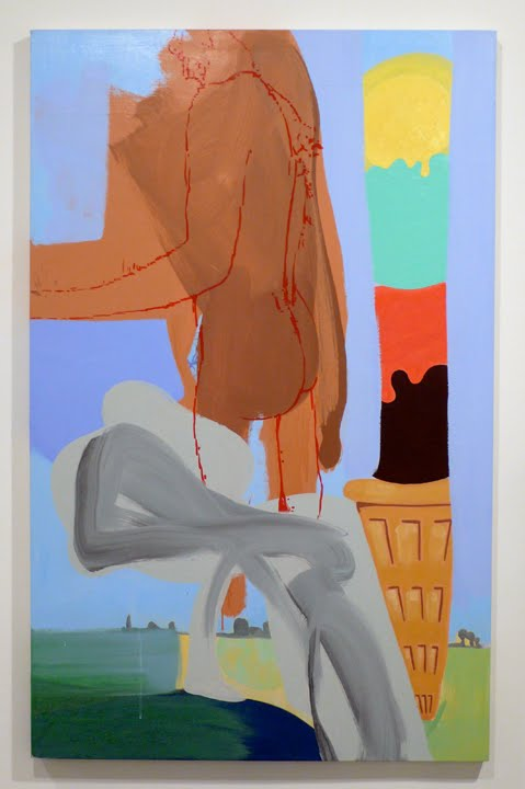 David Humphrey  Flavors  Acrylic on canvas  34.375 inches x 54 inches  2002-2009