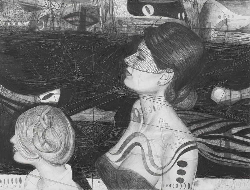 Paul Brainard.  Untitled.  22 inches x 30 inches.  Pencil on paper.  2008.