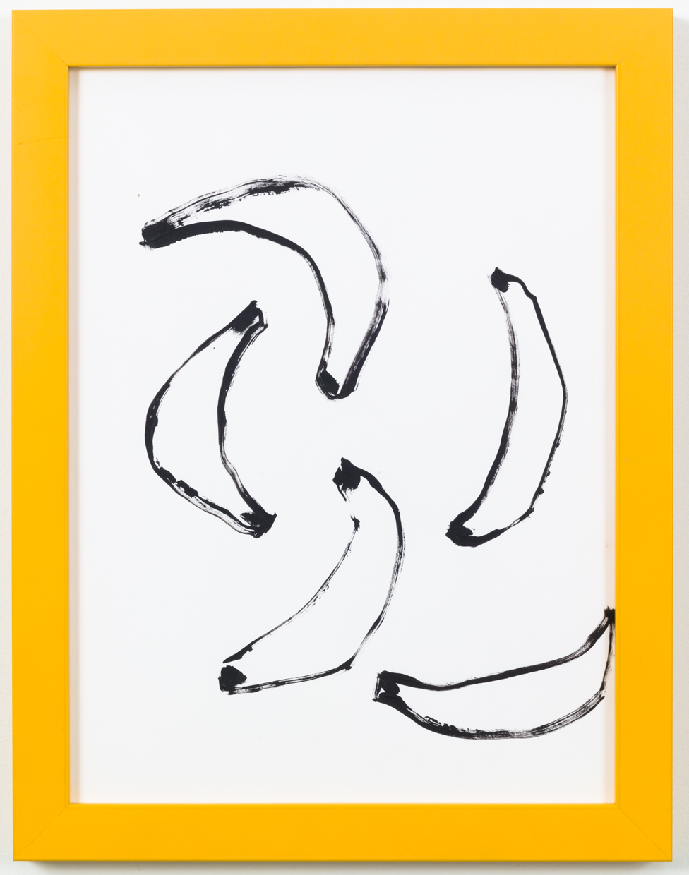 Bananas  12 inches x 9 inches  Acrylic on Paper.  2014