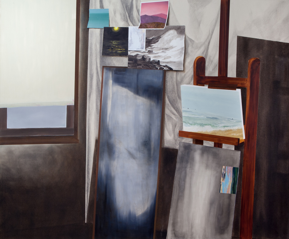 Coastal Studies   Oil and pencil on canvas  50 inches x 60 inches  2014