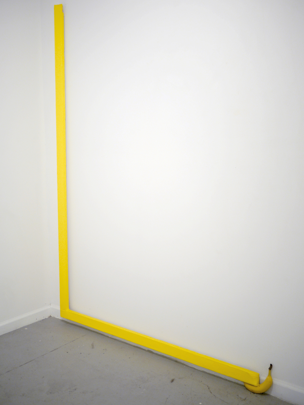 Banana in Line  60 inches x 84 inches  Oil on canvas, banana  2015