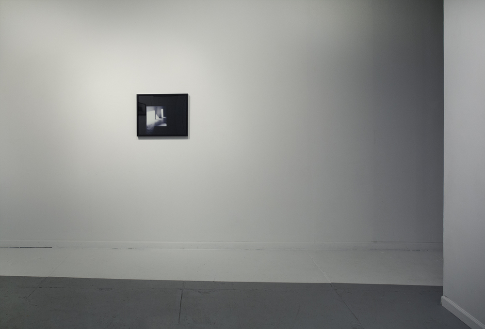 Installation view:   A New Photograph  and  White Rectangle (negative #17, Friday, May 11, 2012 at 7:30 AM)