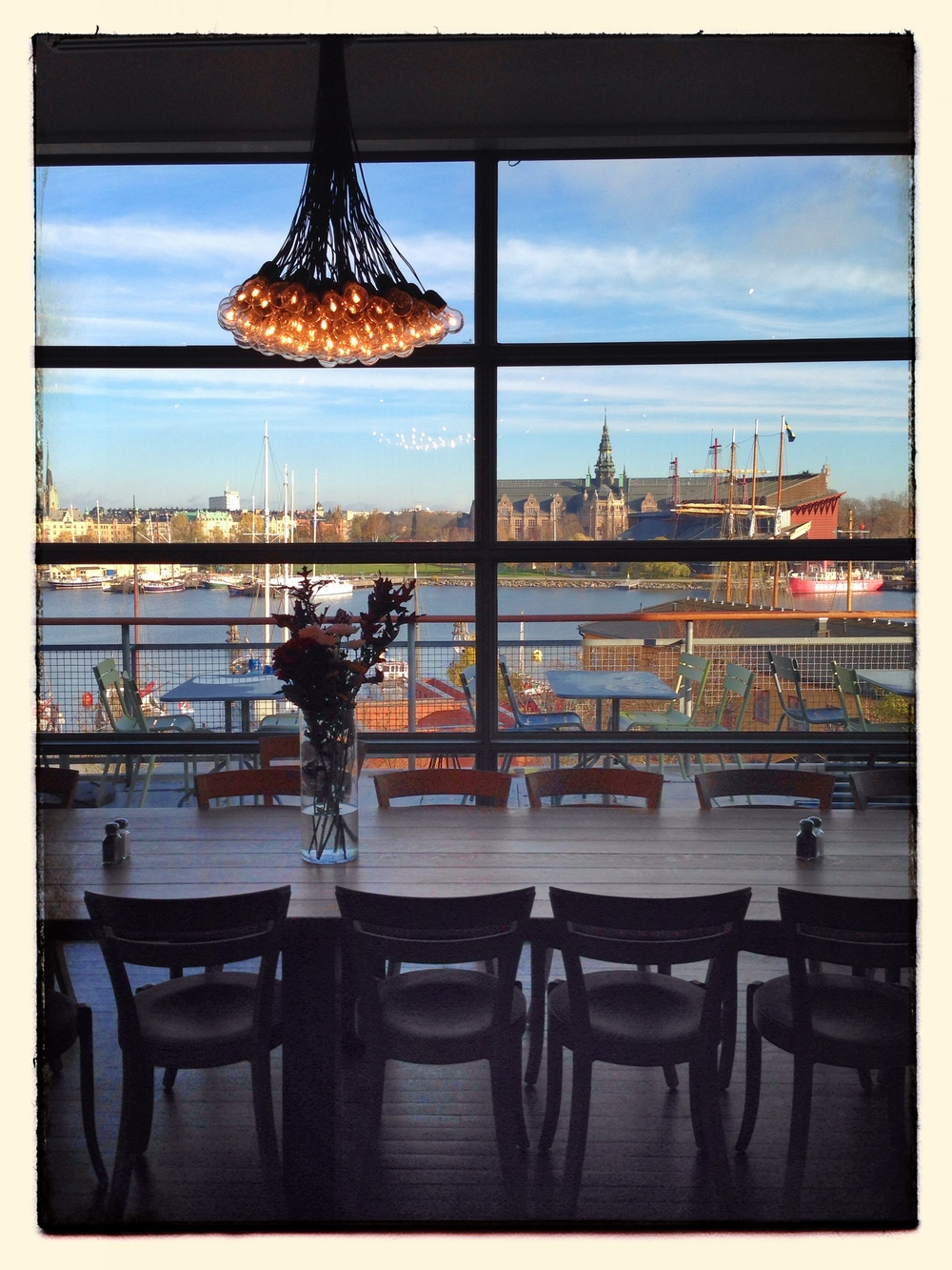 View from the café in Moderna Museet on the island of Skeppsholmen in Stockholm © 2014 Design Story Works LLC