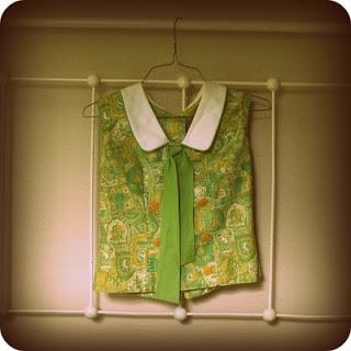 Mod green blouse