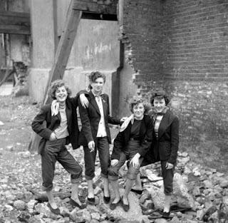 1950s Teddy Girls in London