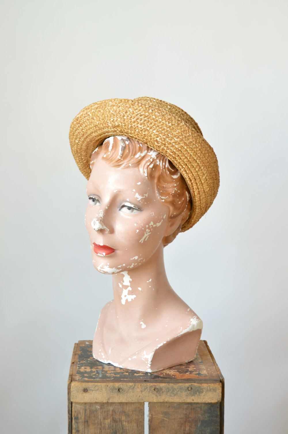 Edwardian vintage straw hat