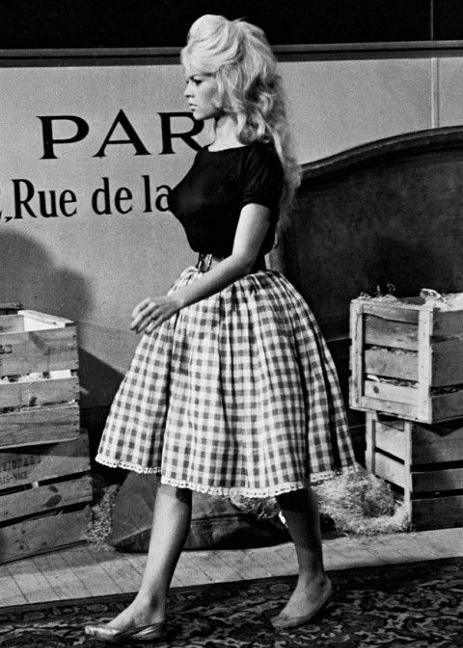 Vintage style icon Brigitte Bardot, 1950s