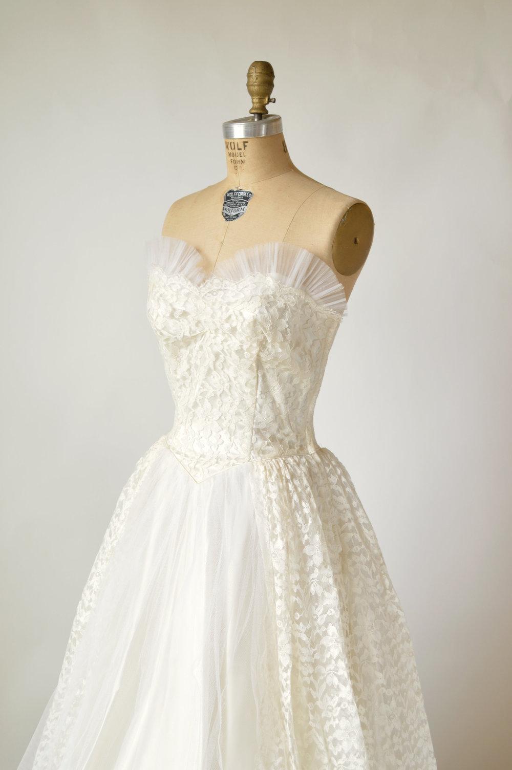 Vintage Strapless Wedding Dress