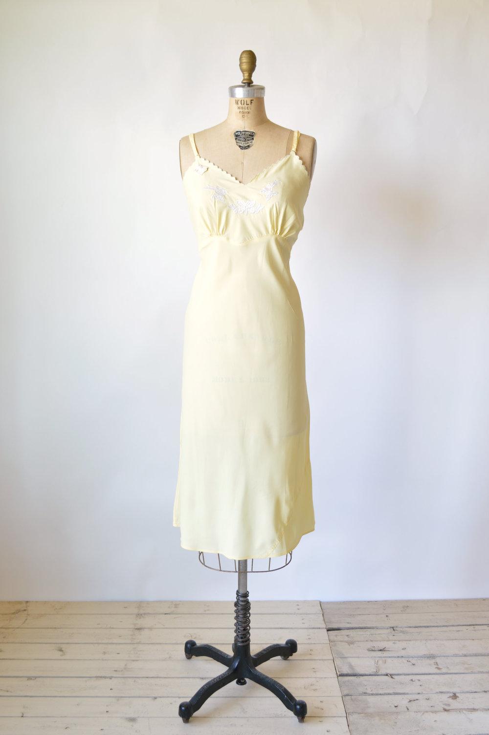 Pale Yellow Vintage Slip