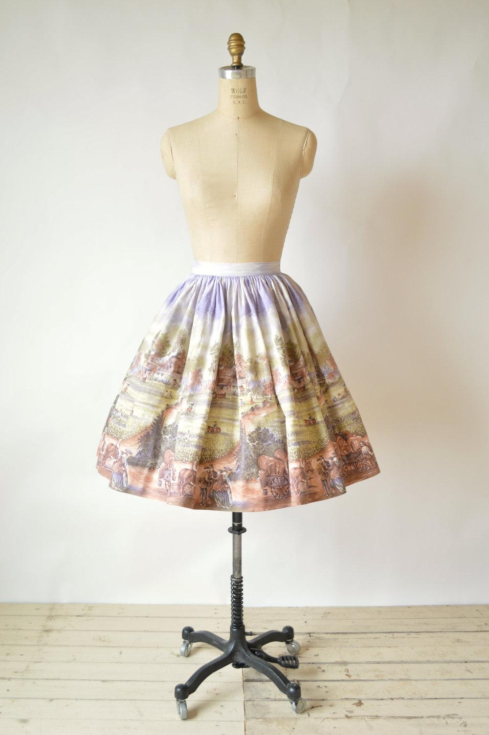1950s Vintage Cotton Skirt