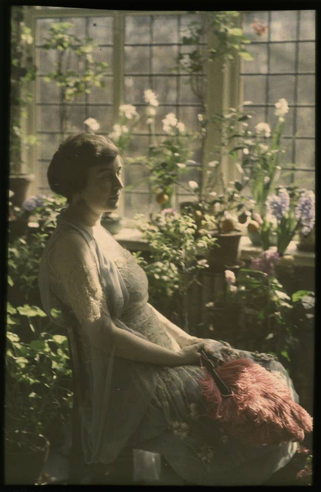 Vintage Autochrome Lumiere Photo via George Eastman House