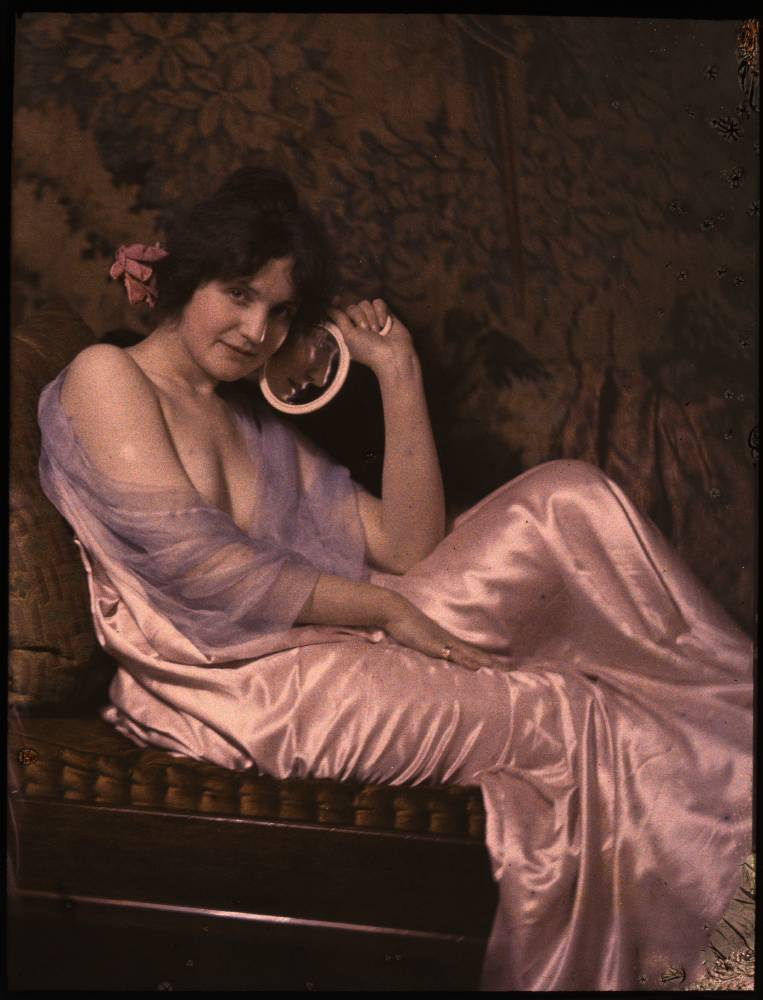 Autochrome portrait of a woman
