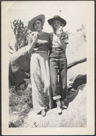 Women wearing pants, 1940s