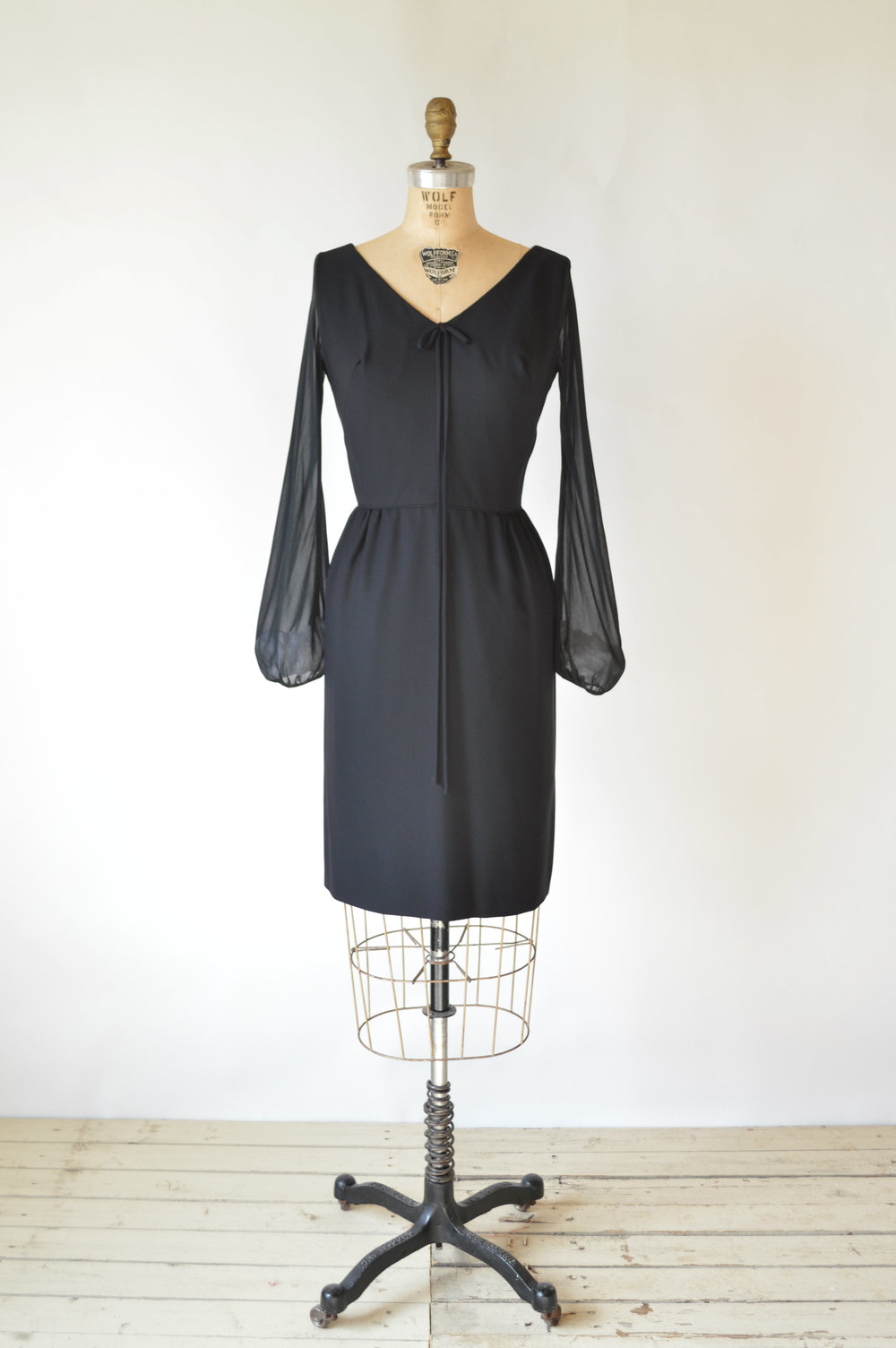 1960s Black Cocktail Dress
