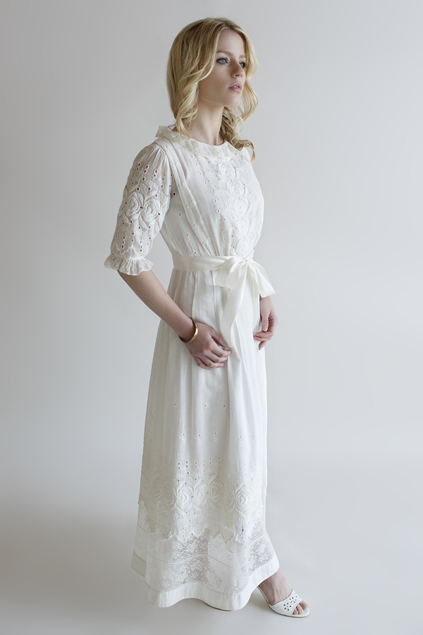 The Artemisia Gown, an Edwardian wedding gown from Beloved Vintage Bridal.