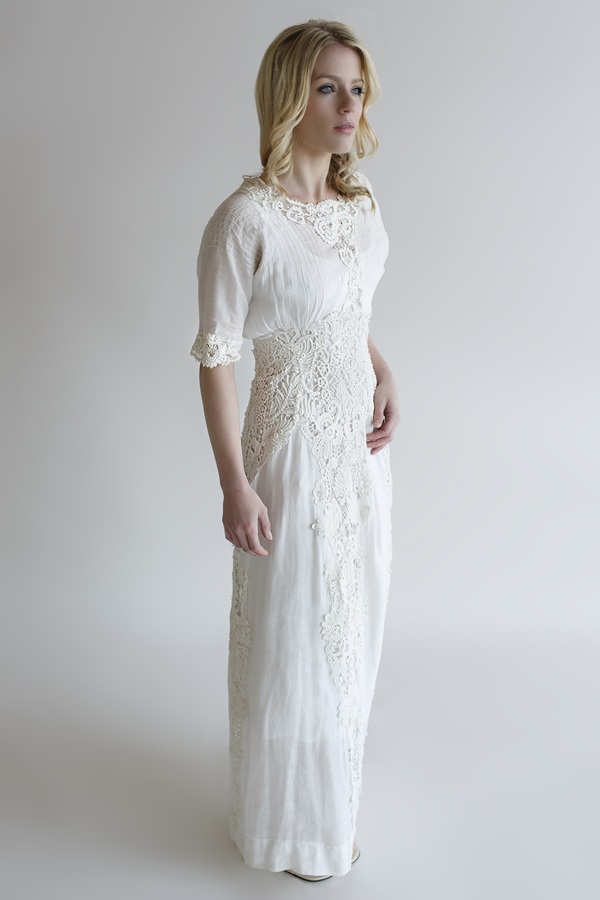 The Evaline Gown, a vintage Edwardian wedding gown from Beloved Vintage Bridal.