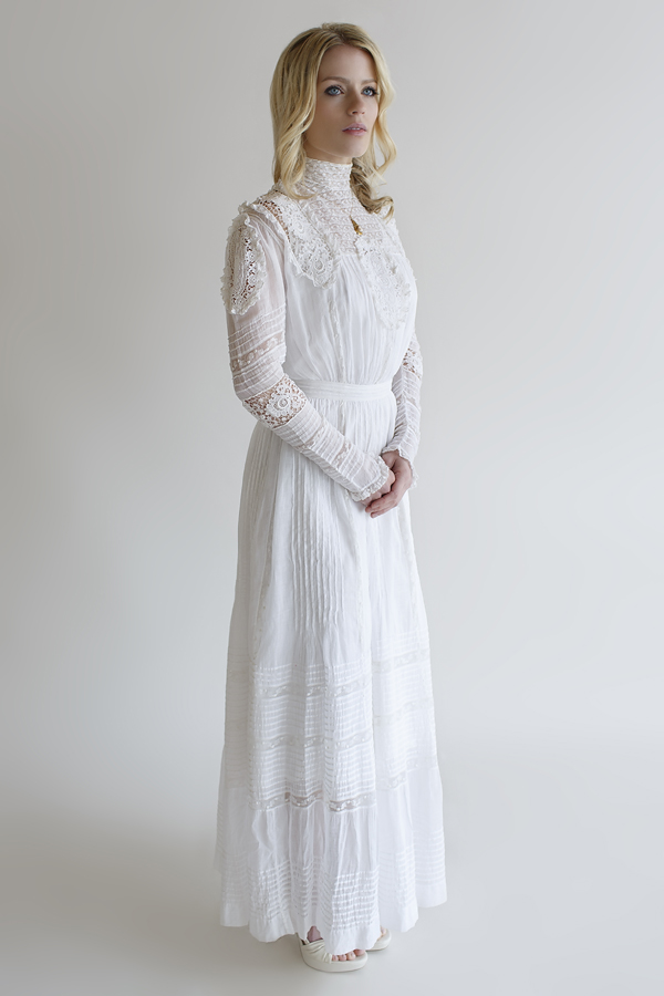 The Leticia Jane Gown, a vintage Edwardian wedding gown from Beloved Vintage Bridal.