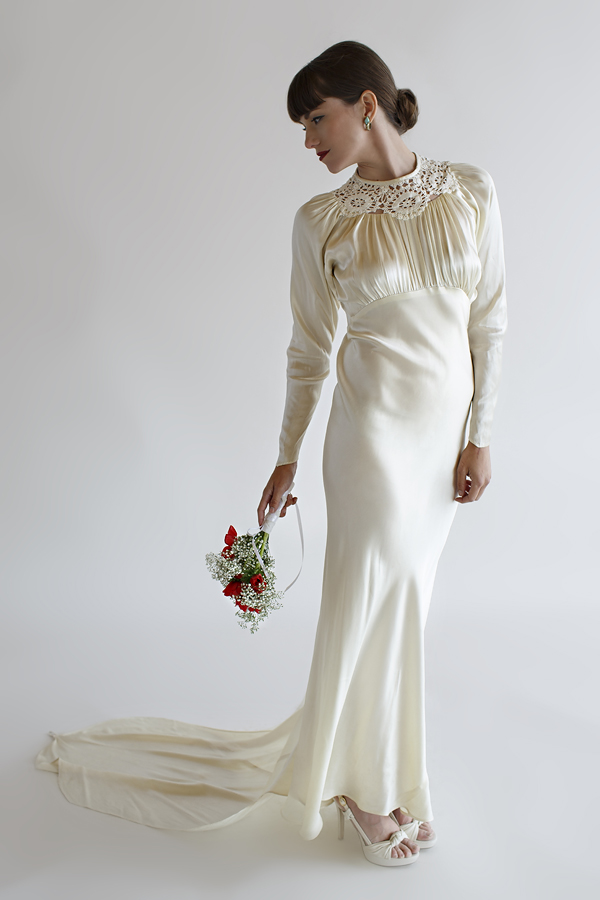 The Lillian Gown, a vintage 1930s wedding gown from Beloved Vintage Bridal.