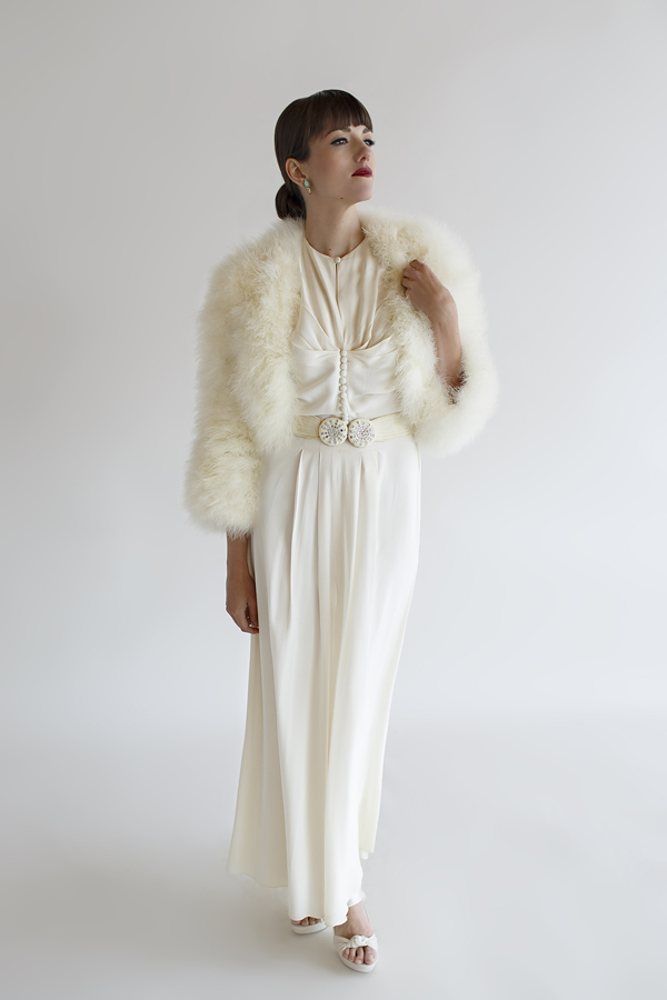 The Veronica Gown, a vintage 1940s wedding gown from Beloved Vintage Bridal.