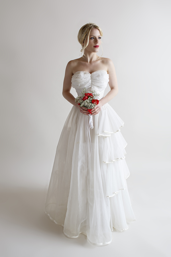 The Anna Gown, a vintage 1950s wedding gown from Beloved Vintage Bridal.