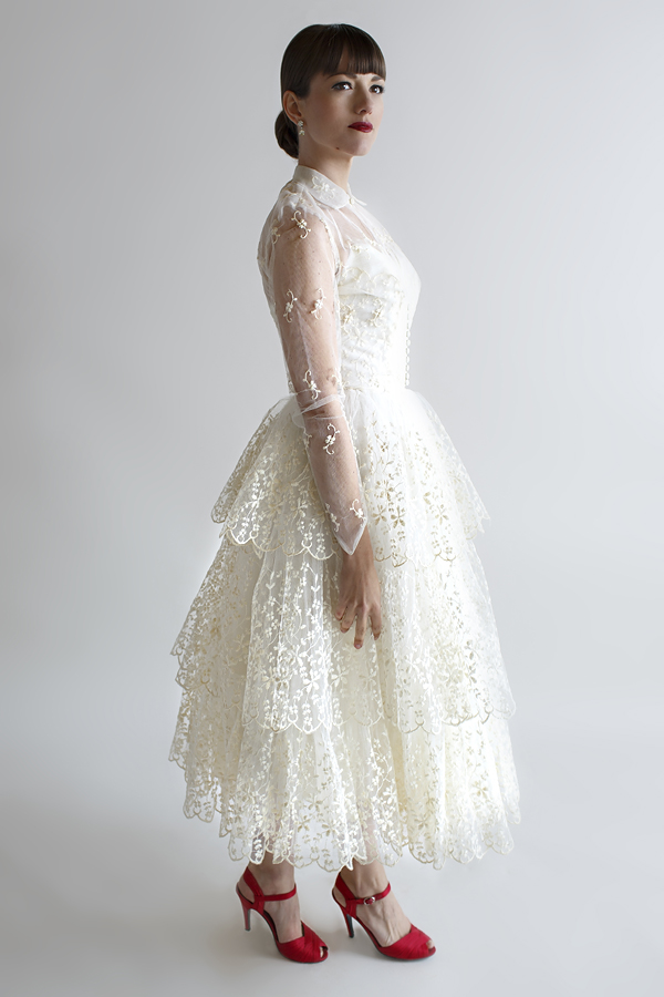 The Cherry Anne Dress, a vintage 1950s wedding dress from Beloved Vintage Bridal.