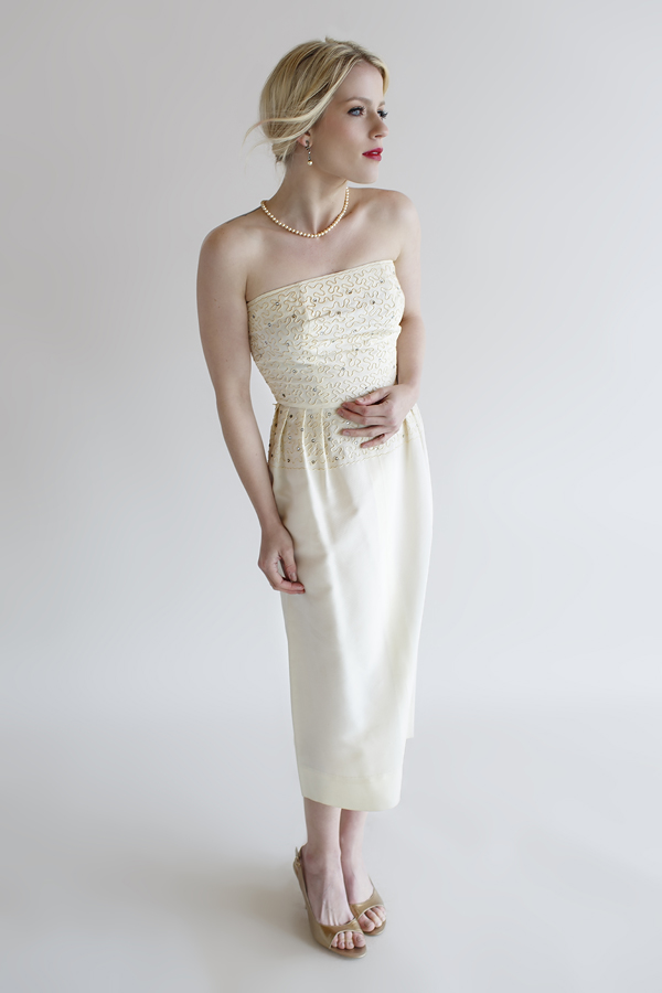 The Rosemary Dress, a vintage 1960s wedding dress from Beloved Vintage Bridal.