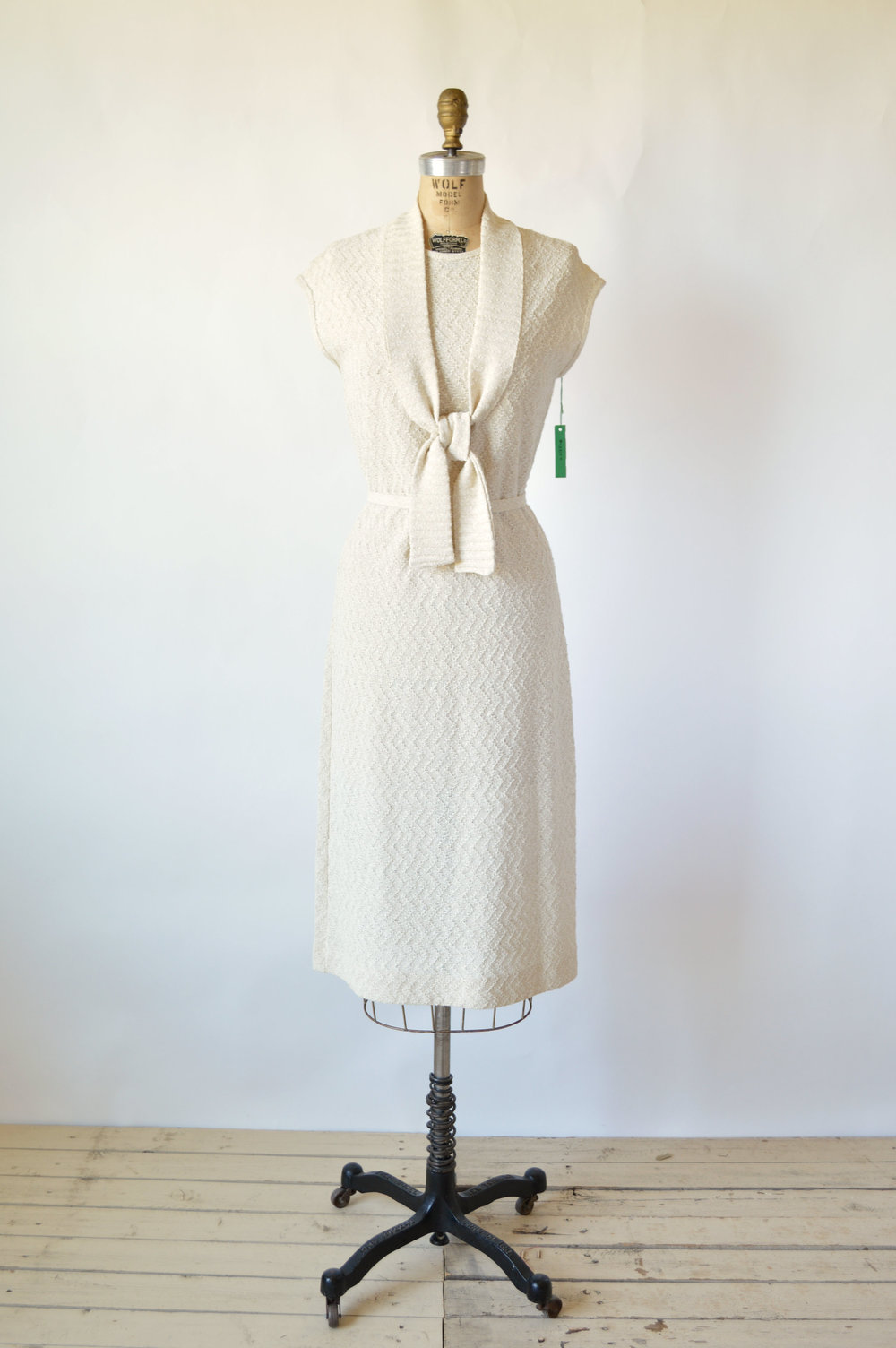 Vintage 1960s Kay Windsor Knit Dress