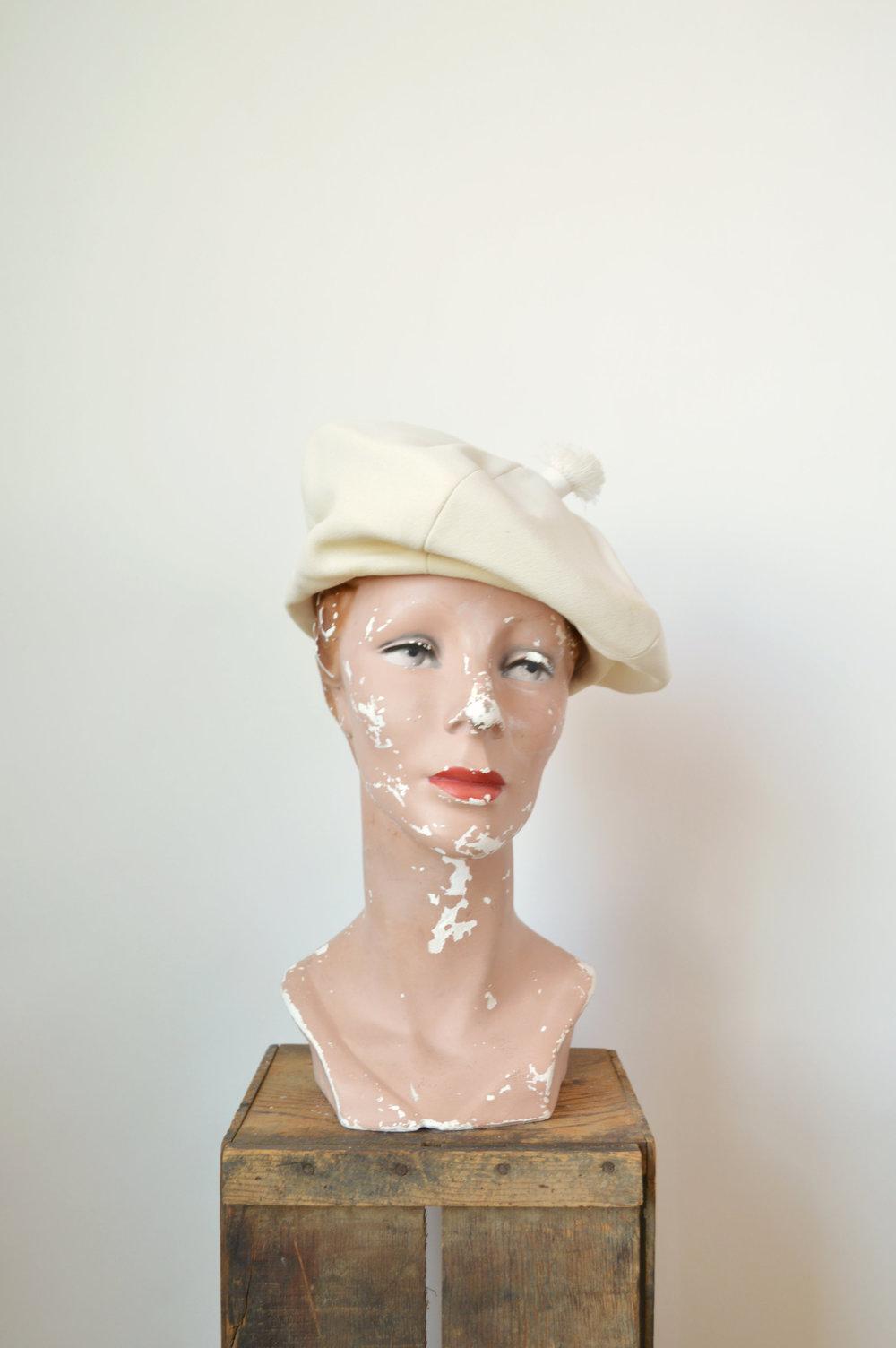 1960s White Vintage Hat