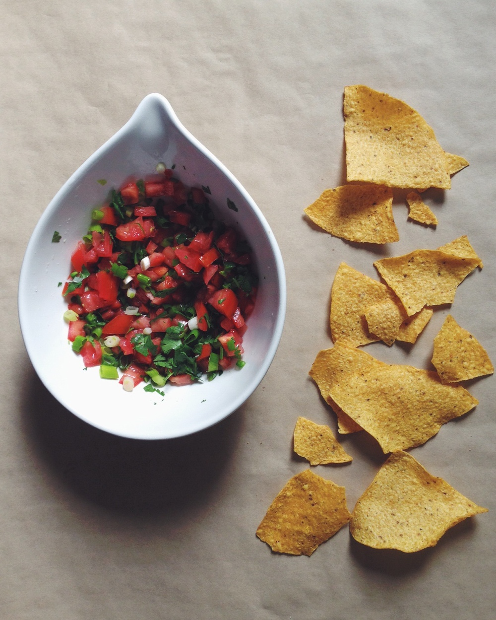 Chips and salsa fresca recipe. Photo by Deborah Hemming.