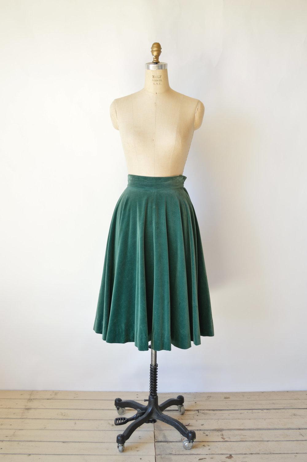 Fall 1940s Vintage Skirt