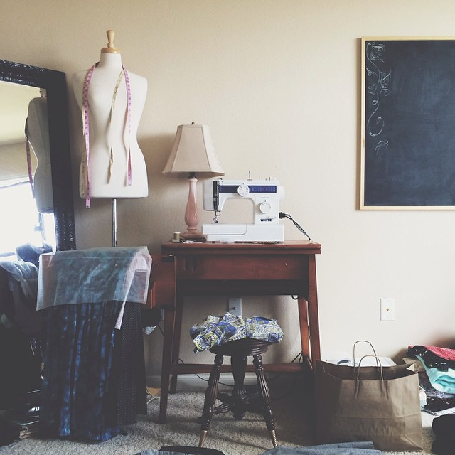 Messy scenes from my vintage studio.