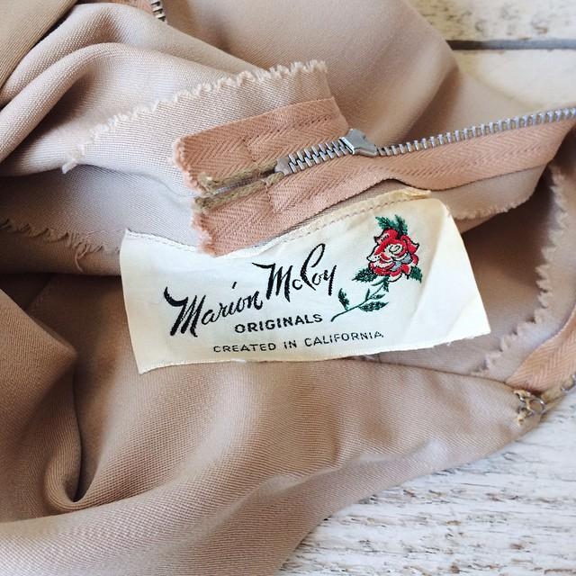 1940s vintage Marion McCoy label
