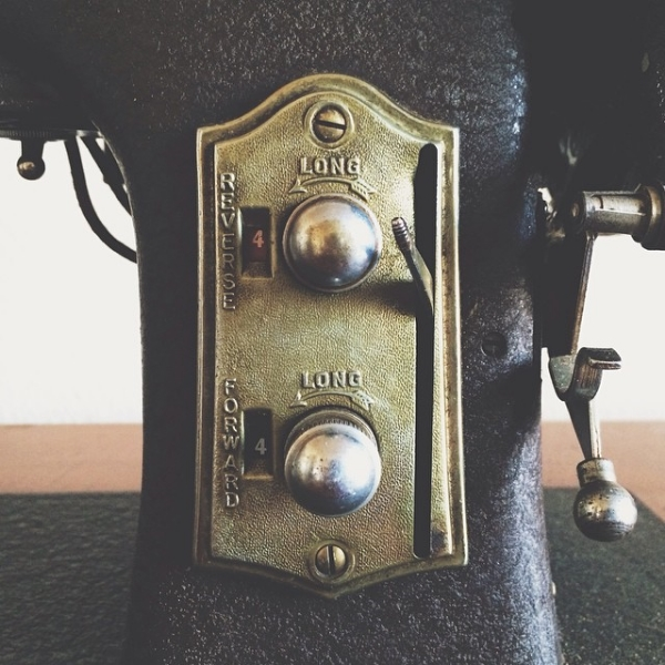 My great grandmother's antique sewing machine.