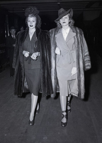 Old Hollywood starlets, Rita Hayworth and Marlena Dietrich.