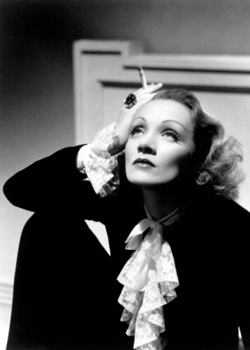 Vintage style icon and Hollywood starlet, Marlena Dietrich.