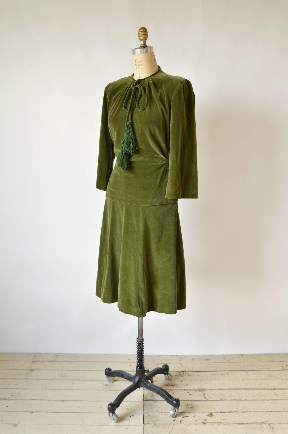 1930s RK Originals Velvet Suit