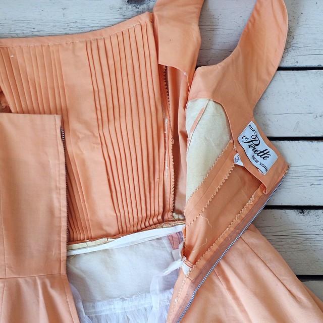 Vintage Suzy Perette label from a 1950s Dalena Vintage dress.