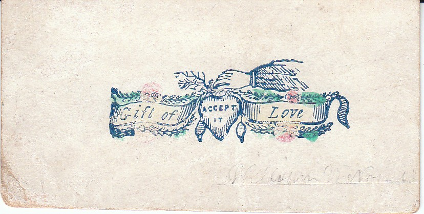 Antique calling cards