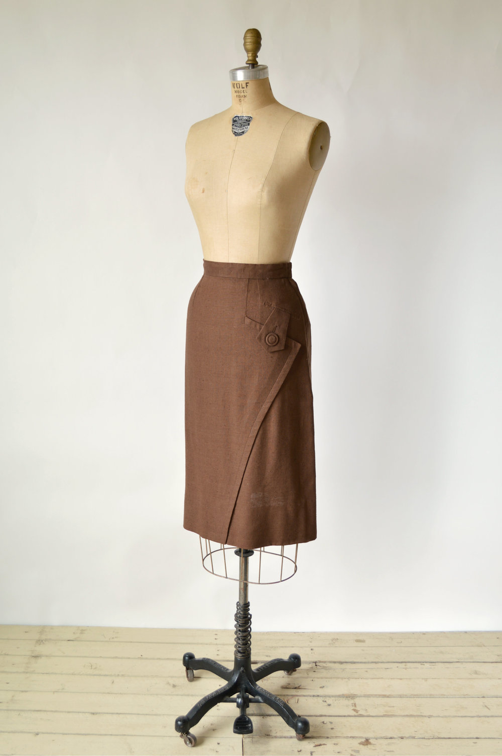 Vintage 1940s Brown Skirt