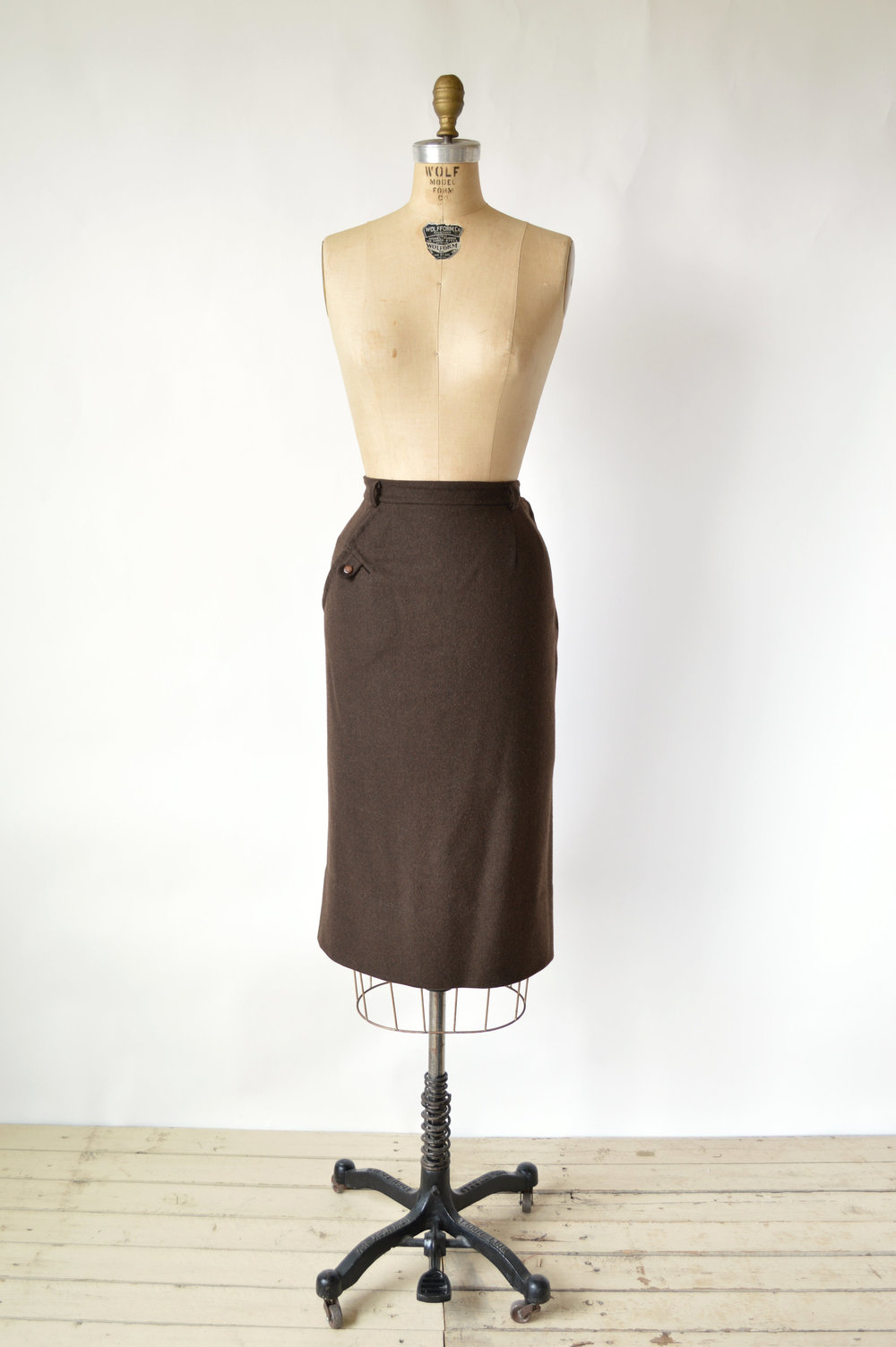 1940s Wool Skirt