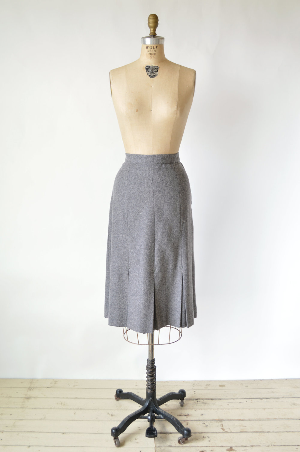 1940s Grey Wool Skirt
