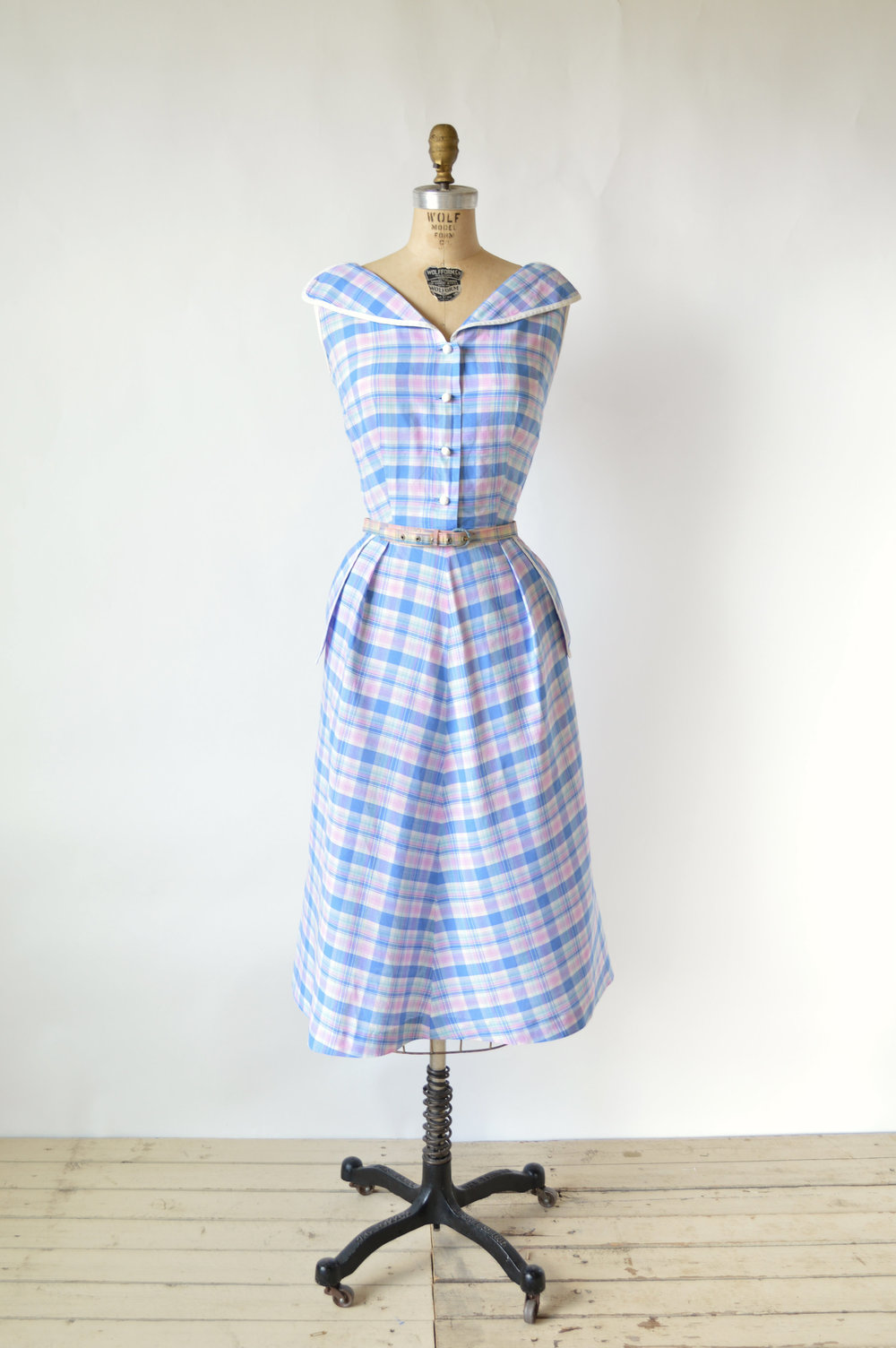 1950s Plaid Kerrybrooke Day Dress