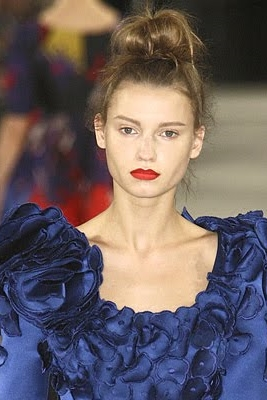 Topknot at Erdem Fall 2009 Runway Show