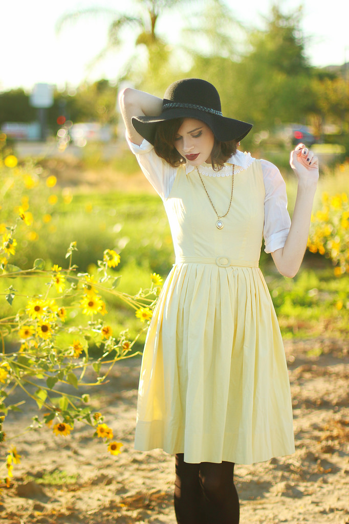 Styling vintage dresses for fall with Alexandra of Into the Woods.